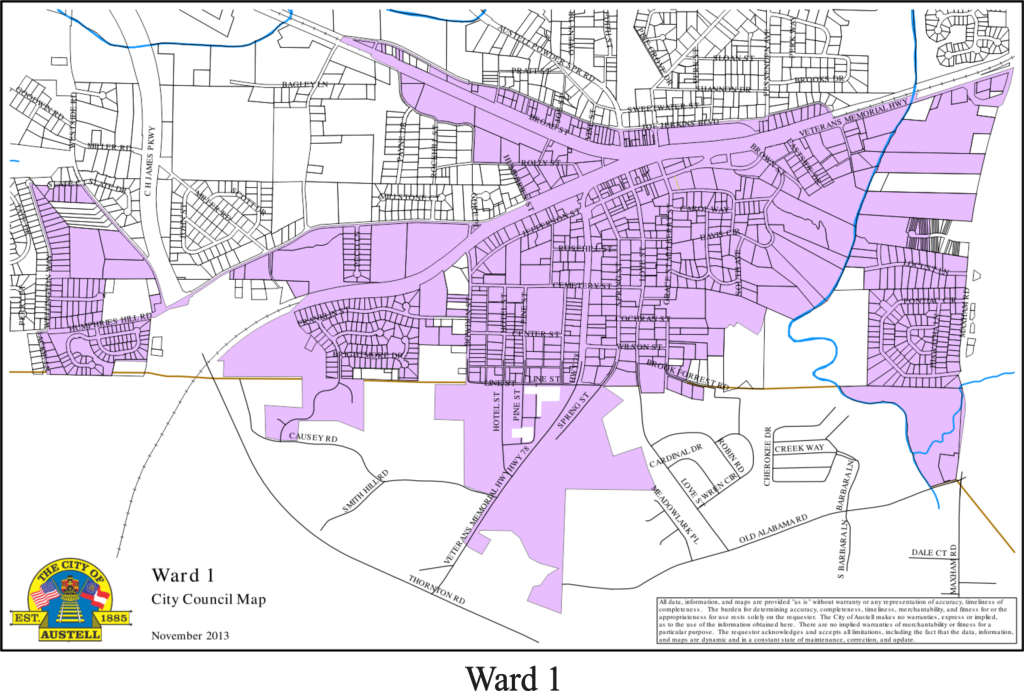 Austell, GA - Ward Maps on